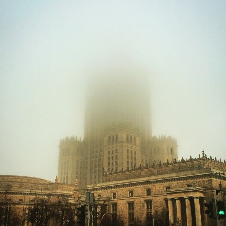 Culture Palace in the fog