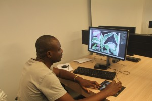 LucFosther Diop working at FAAP Campus
