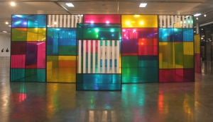 Work by Daniel Buren @ SP Art Fair 2015, by LucFosther Diop