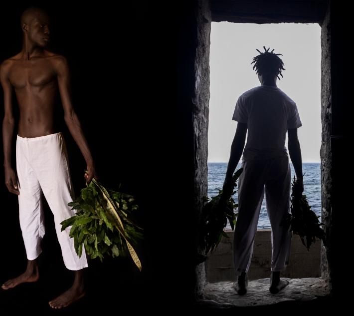 O Sacudimento da Maison des Esclaves em Gorée_Díptico I_ Sacerdotes_2015